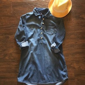 ⭐️GAP denim shirtdress EUC